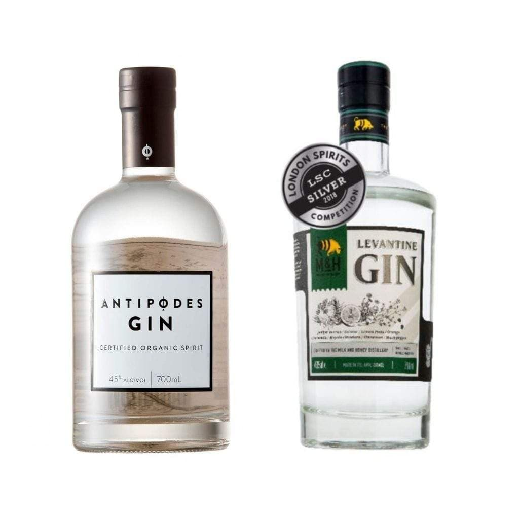 Antipodes Organic Gin +Milk & Honey Levantine Gin 700 ml Includes ONE StrangeLove Tonic