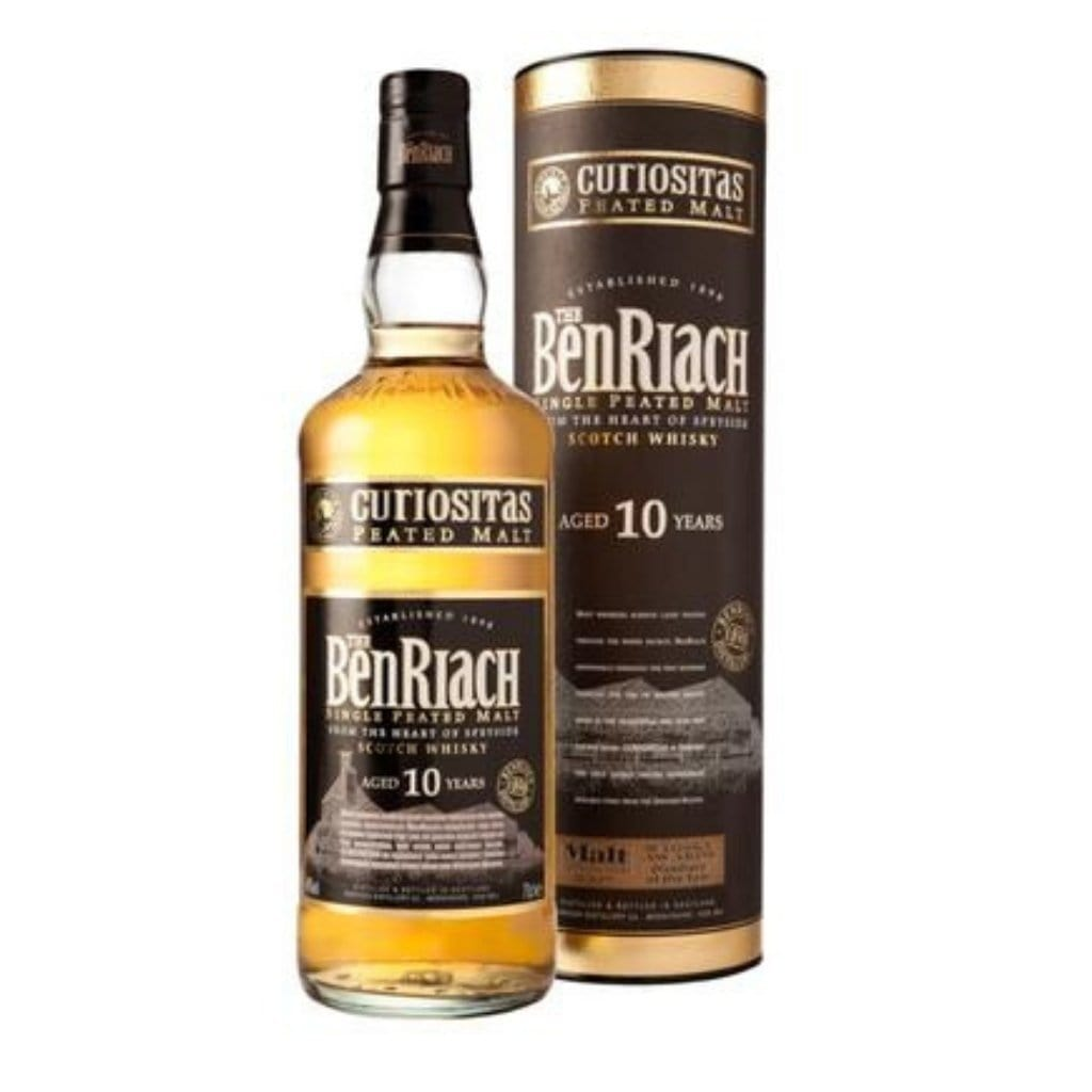 BenRiach 10 Yr Old Curiositas Peated Single Malt Scotch Whisky