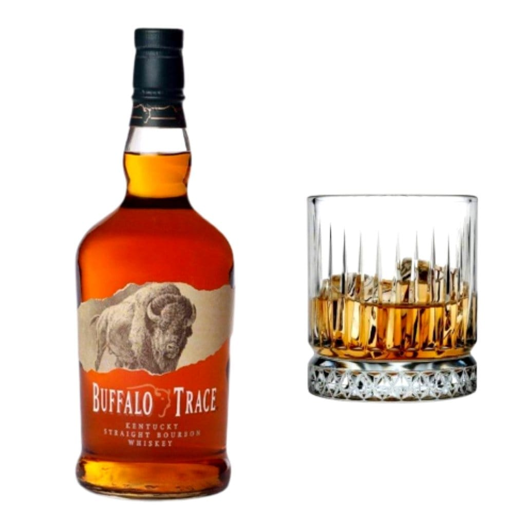Buffalo Trace Kentucky Straight Bourbon 40% 700ml PLUS Pasabache classic crystal whisky glass 355 ml