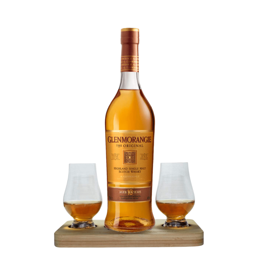 Glenmorangie The Original Whisky Tasting Gift Set includes Wooden Presentation Stand plus 2 Original Glencairn Whisky Glass