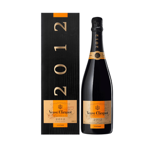 Veuve Clicquot Vintage 2012 Presentation Stand Includes 2 Fine Crystal Champagne Flutes