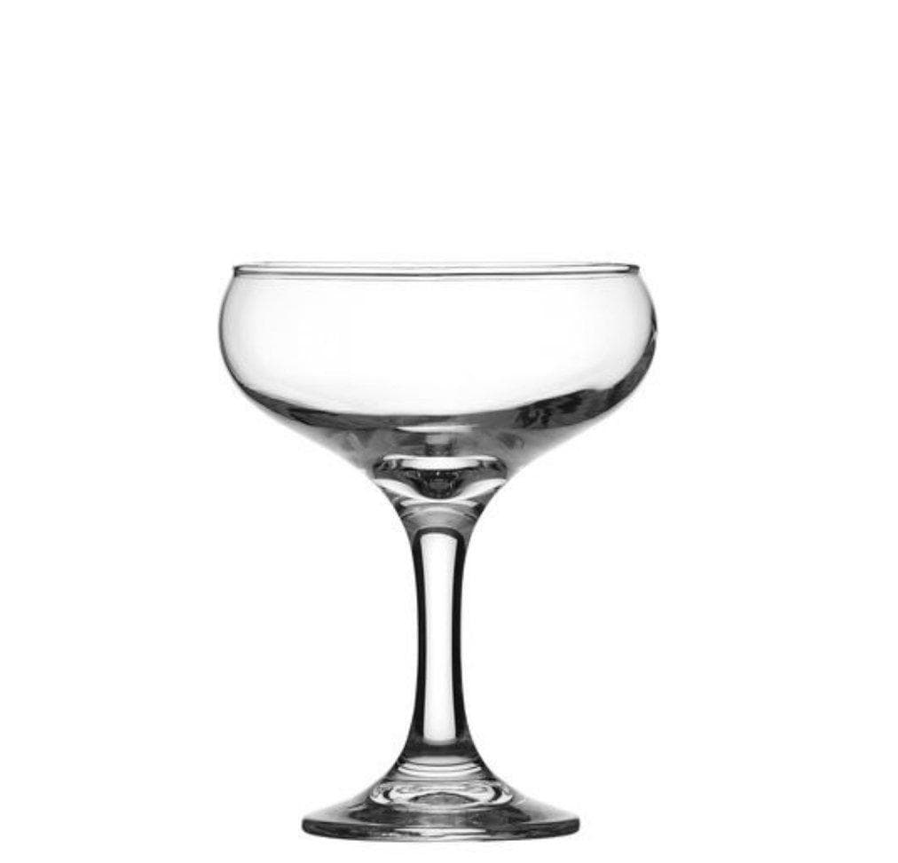 Crown Glassware Crysta III Champagne Saucer Cocktail & Martini Specialty Glasses 295 ml - Set of 12