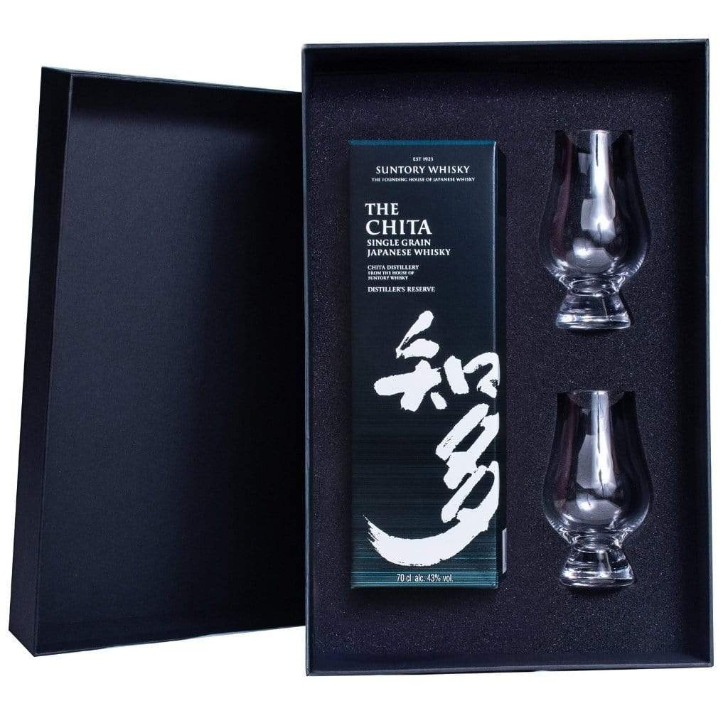 The Chita Suntory Japanese Whisky with Gift Box and 2 Glencairn glasses