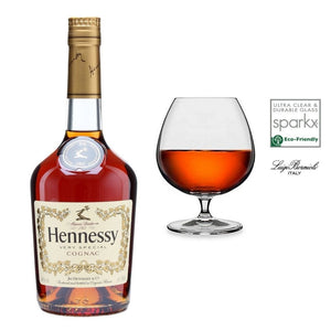 Hennessy VS Cognac 40% 700ml Plus 1x Luigi Bormioli Napoleon Cognac Glass