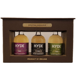 Hyde Irish Whiskey Gift Pack 3x 50ml