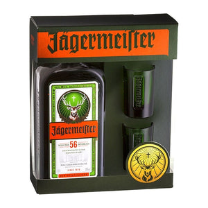 Jagermeister with 2 Green Shot Glasses 700 Ml