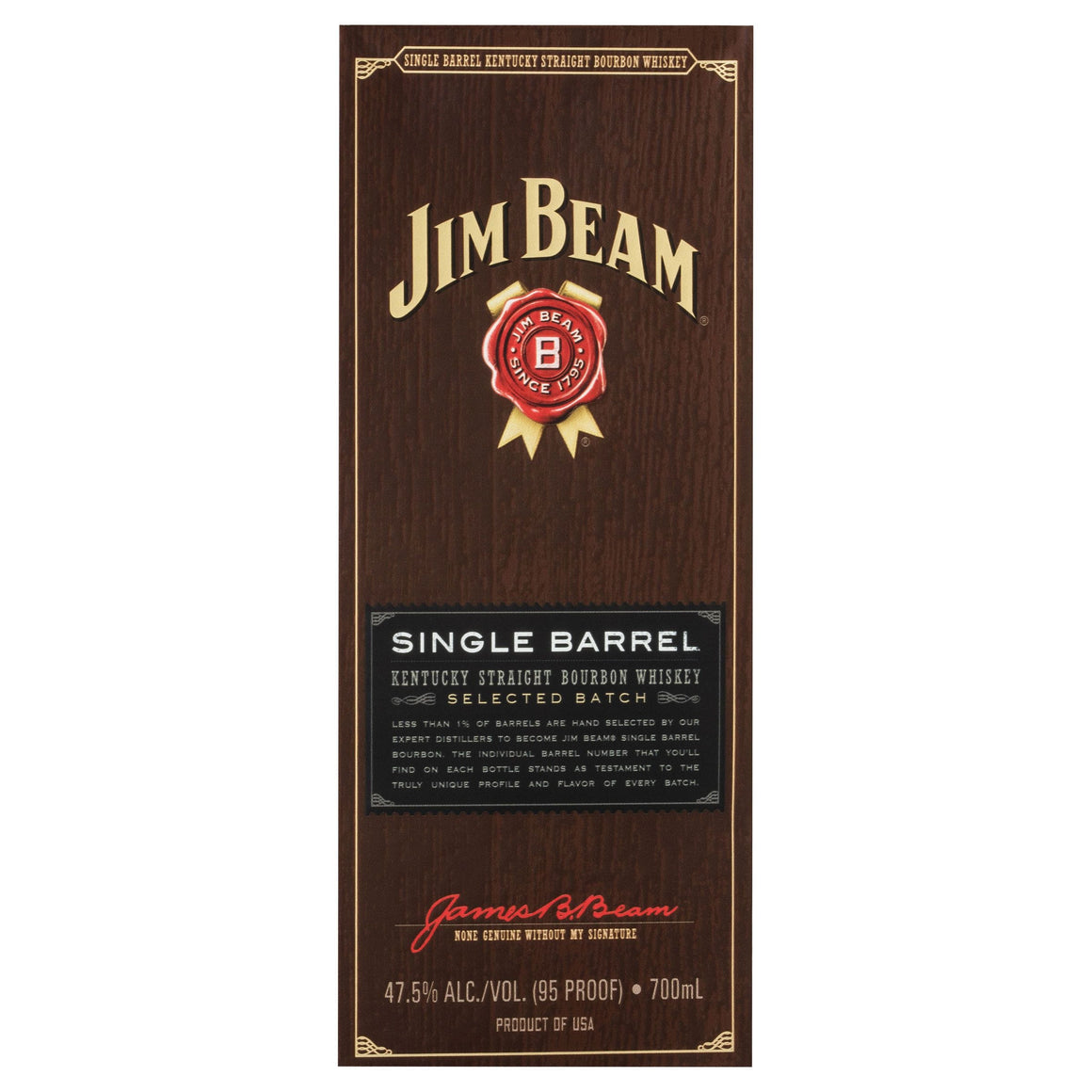 Jim Beam Single Barrel 47.5% 700ml