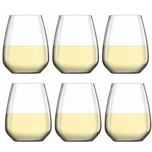 Luigi Bormioli Atelier Stemless Riesling Wine Glass 400ml Set of 6