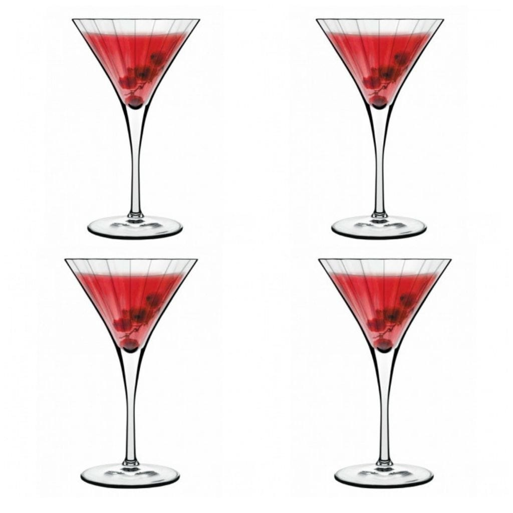 Luigi Bormioli Bach Cocktail & Martini Specialty Glasses 260ml Set of 4