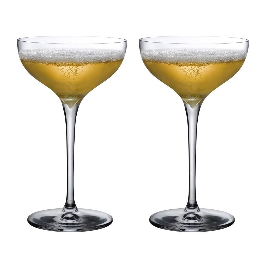 Nude Terroir Champagne Coupe Crystal Glasses 185ml Set of 2 - In a Gift Box