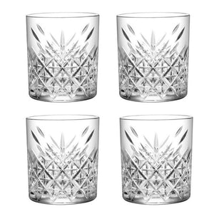 Pasabahce Timeless Double Old Fashioned Whisky Glassware 355ml - 4 Pack