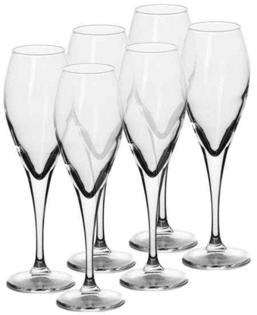 Pasabahce Monte Carlo Champagne Flute Glassware 130ml Set of 6