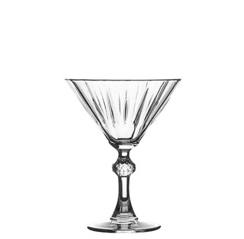 Pasabahce Diamond Martini Cocktail & Martini Specialty Glasses 240 ml - 12 Pack