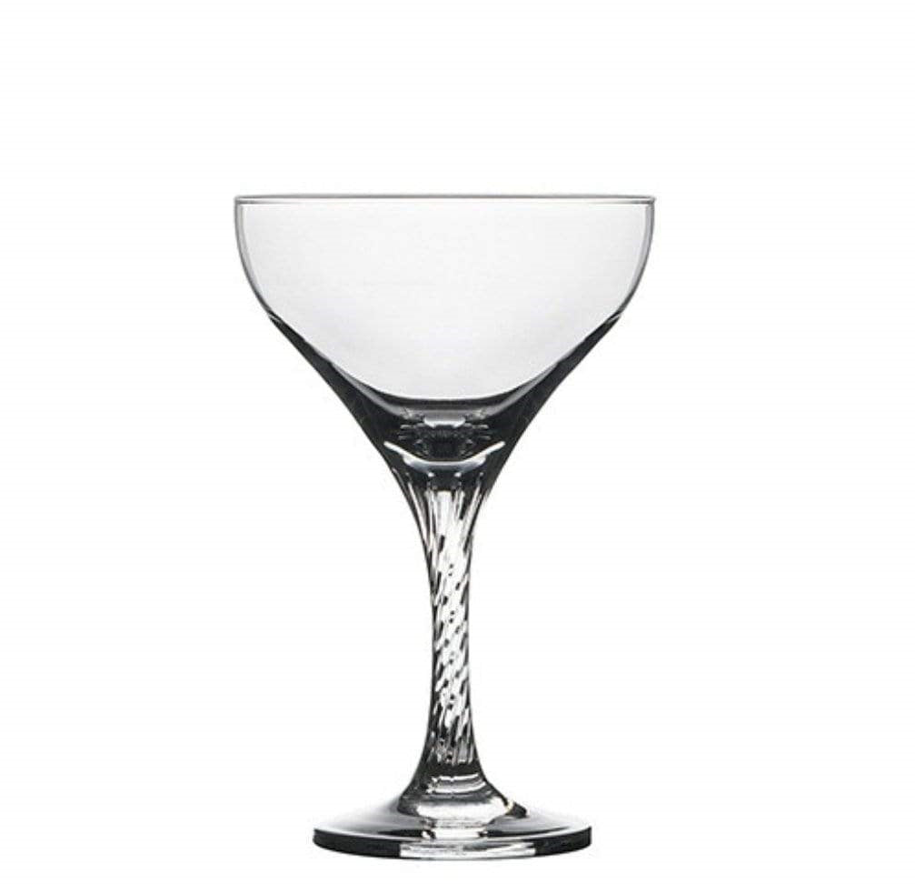 Pasabahce Twist Champagne Saucer Cocktail & Martini Glass - 12 Pack