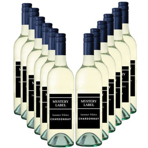 Mystery Label  Summer White Chardonnay 12 Pack