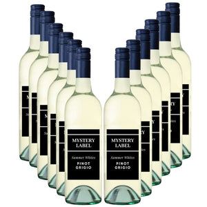 Mystery Label  Summer White Pinot Grigio 12 Pack