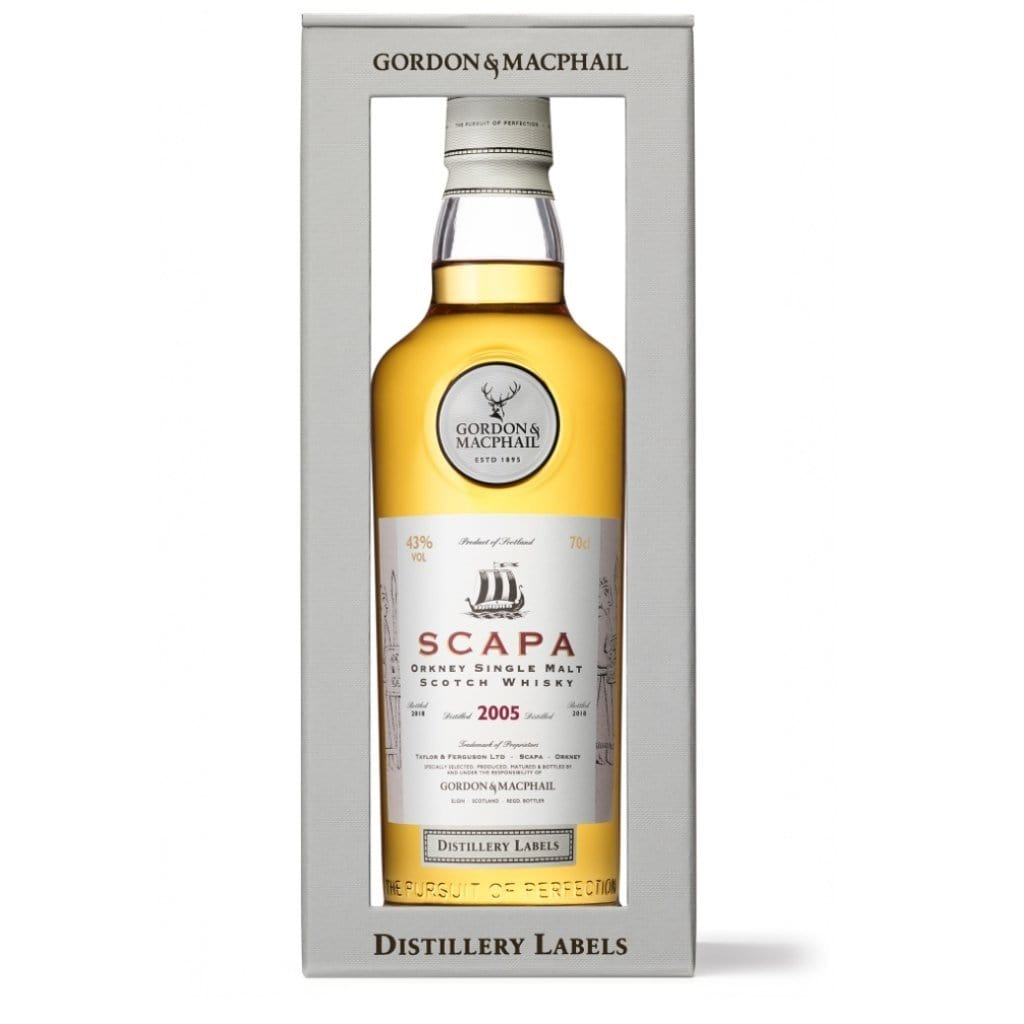 Gordon & Macphail Distillery Labels Scapa 13YO Single Malt Scotch Whisky 43% 700ml