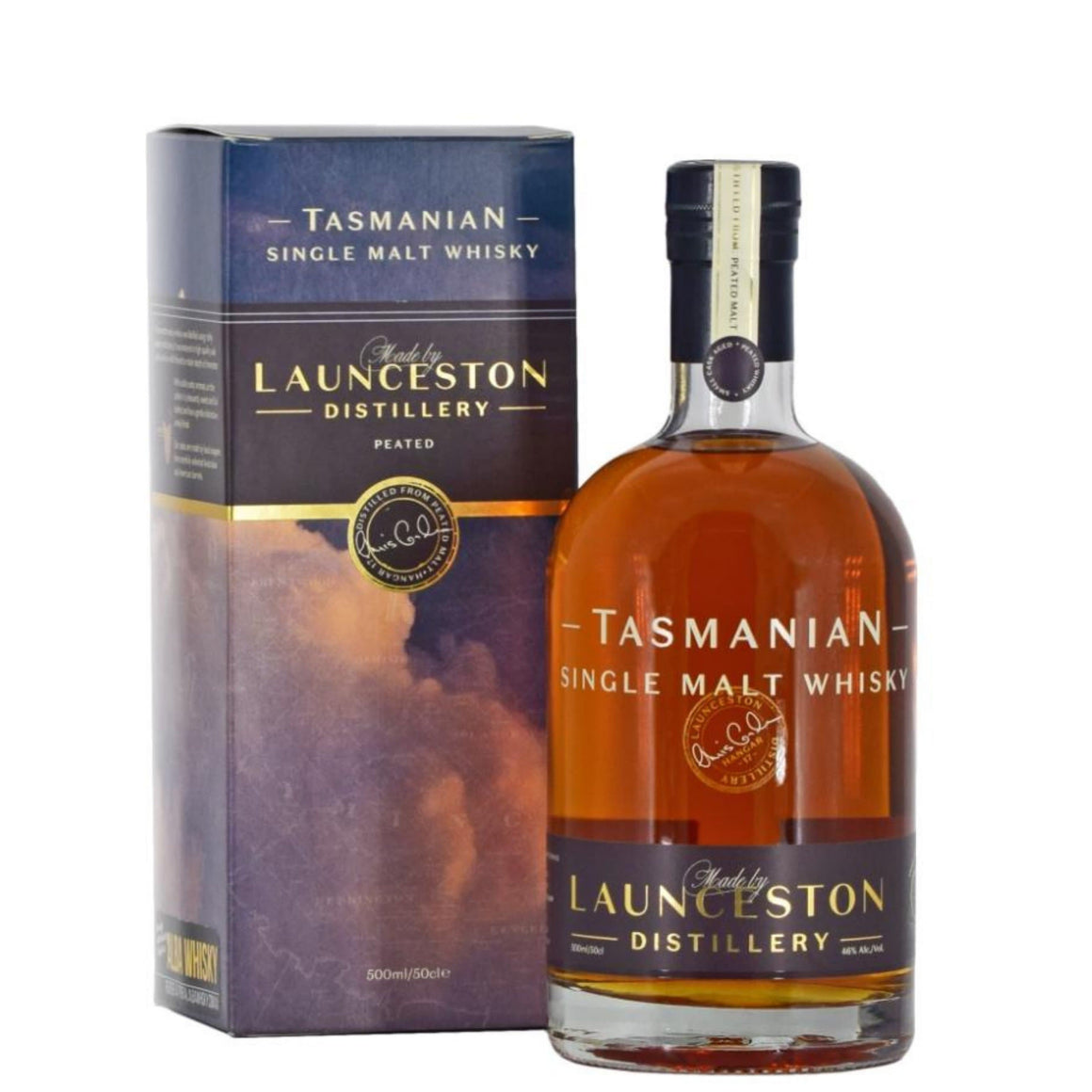 Launceston Distillery Peated Single Malt, 46% 700ml