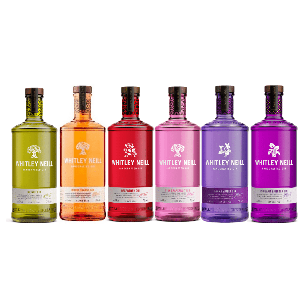 Whitley Neill Gin Bundle - Rhubarb & Ginger + Blood Orange + Violet + Raspberry + Quince + Pink Grapefruit