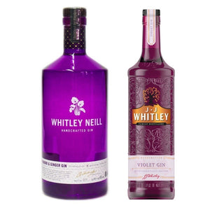 Combo Whitley Neill Ginger & Rhubarb Gin 43% AND J.J. Whitley Violet Gin 38.6% 700ml