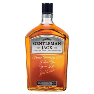 Personalised Jack Daniel's Gentleman Jack Bottle 40% 1750ml.