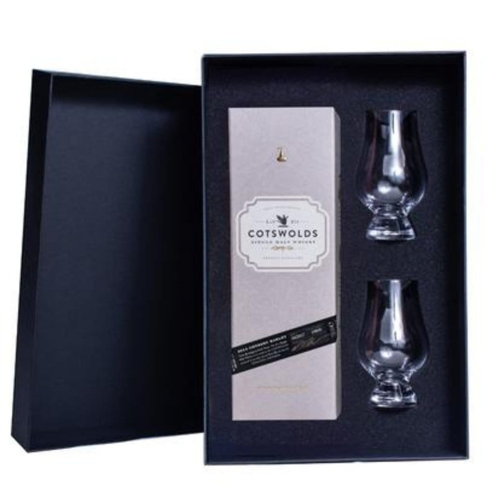 Cotswolds Single Malt Whisky Gift Box (includes 2 Glencairn Glasses)