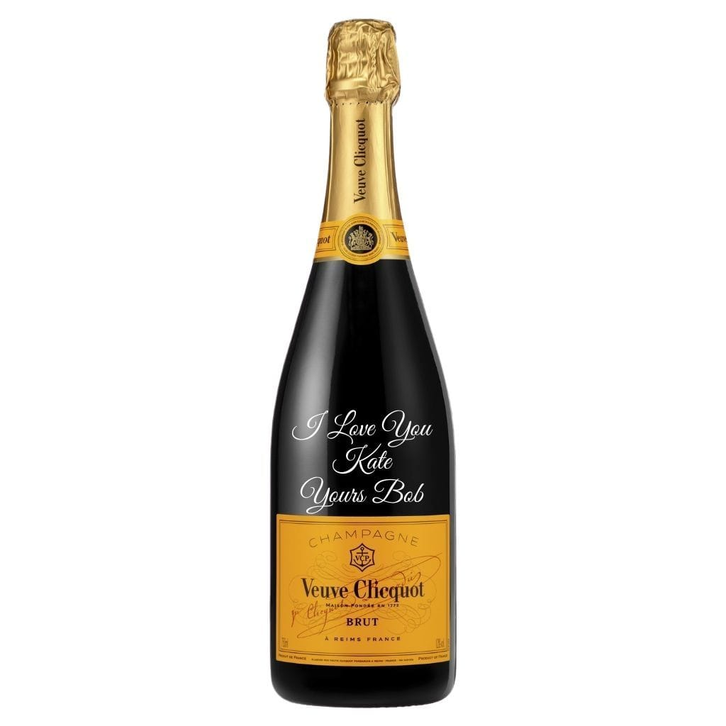 Personalised Veuve Clicquot Yellow Label 750ml.