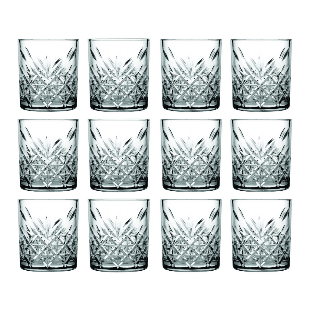 Pasabahce Timeless Old Fashioned Whisky Glassware 210ml - 12 Pack