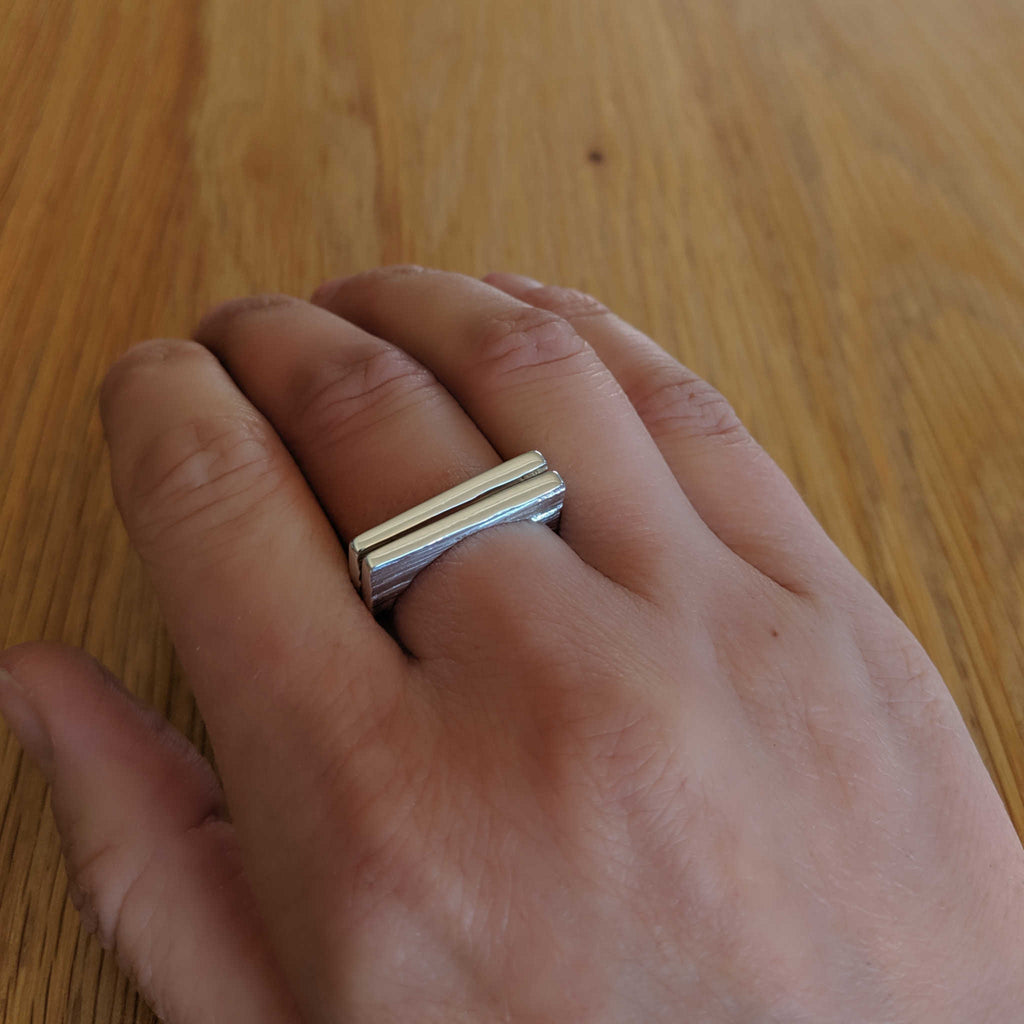 Square Ridge Ring