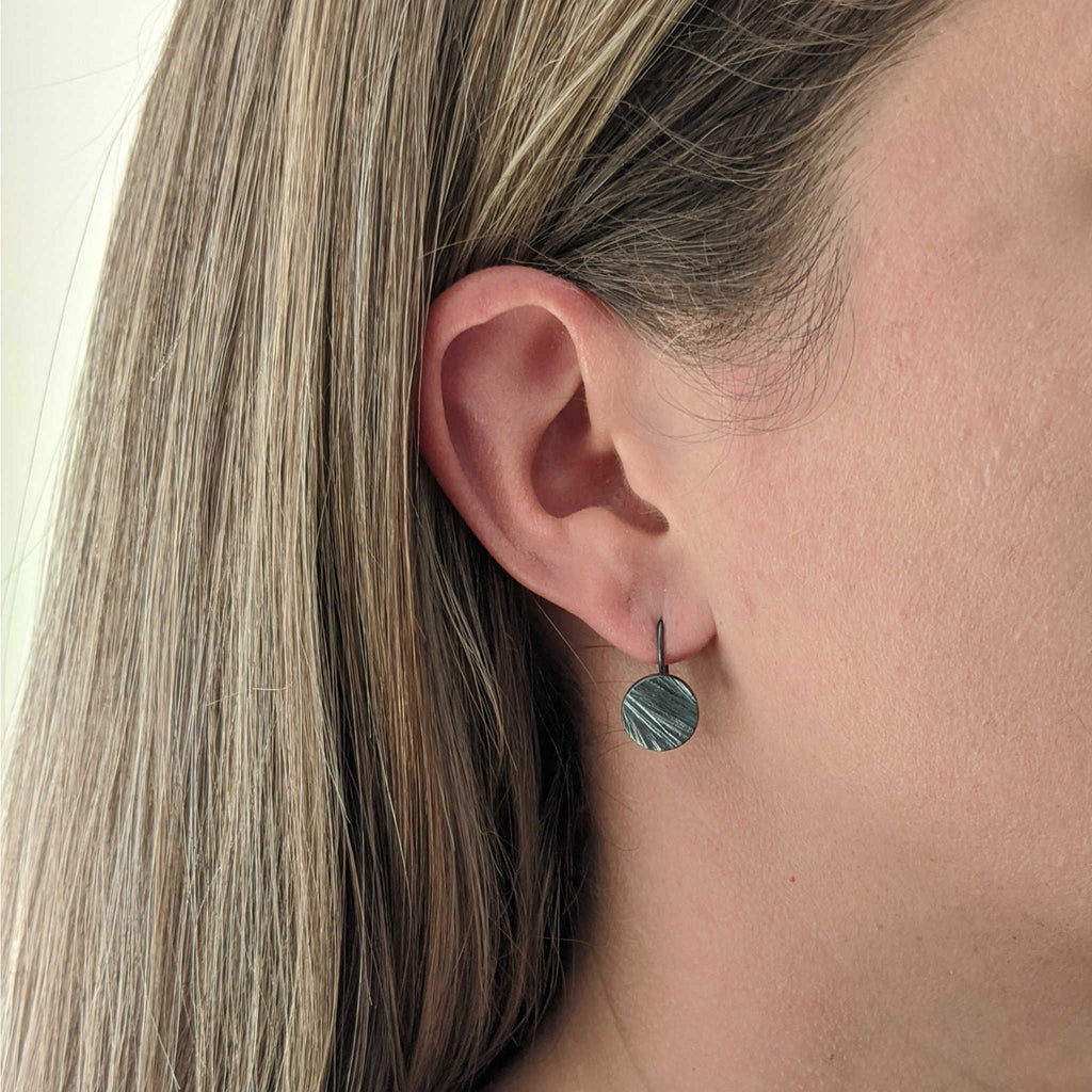 Ridgeline Disc Earrings