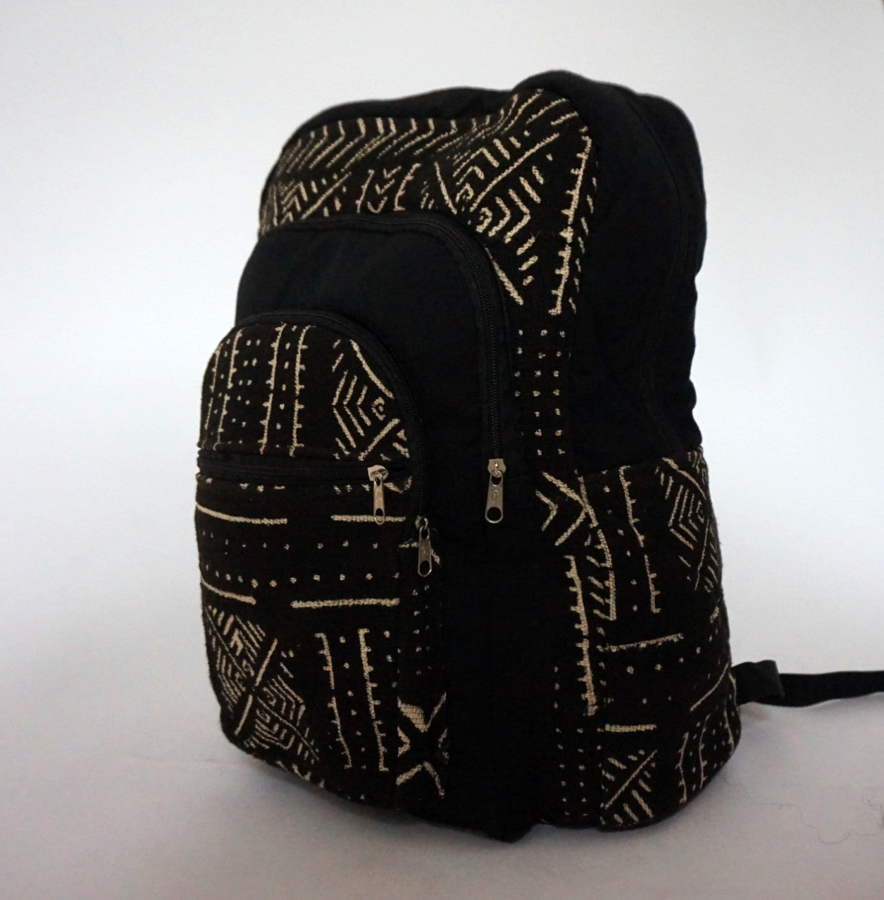 Black & White Limited Edition Malian Mudcloth Backpack