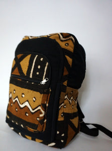 Brown Limited Edition Malian Mudcloth Backpack