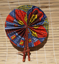 Load image into Gallery viewer, African Wax Print Fan