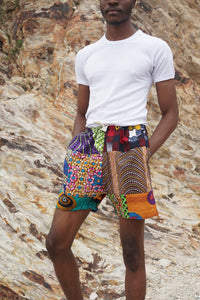 DAGOMBA Patchwork Shorts