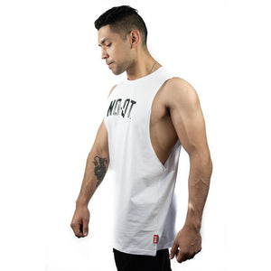 HYBRID MUSCLE TEE - WHITE