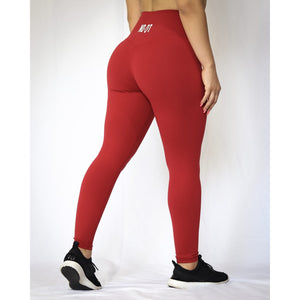 ASPIRE HIGH WAISTED LEGGINGS - WINE RED - noquitsociety