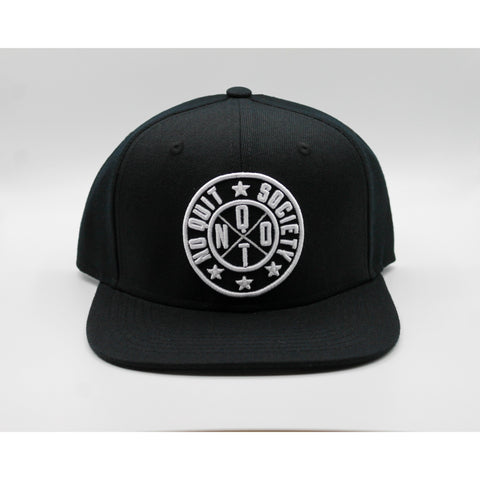 SOCIETY SNAPBACK - STEALTH BLACK
