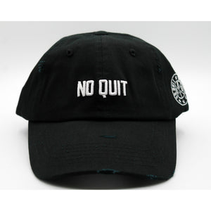 NO QUIT DAD HAT -STEALTH BLACK