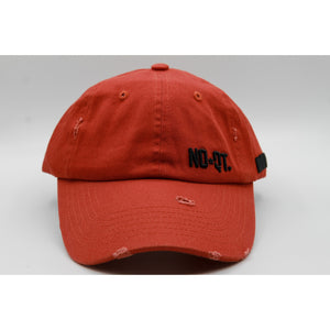 DISTRESSED DAD HAT -RED
