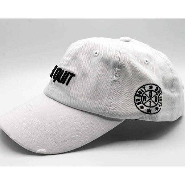 NO QUIT  DAD HAT - FROST WHITE