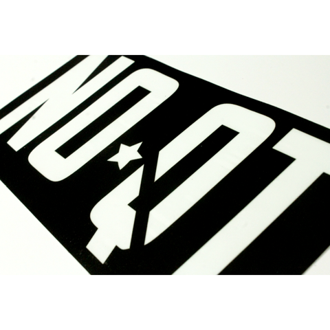 "NOQUIT. 8"" Sticker - Black - noquitsociety"