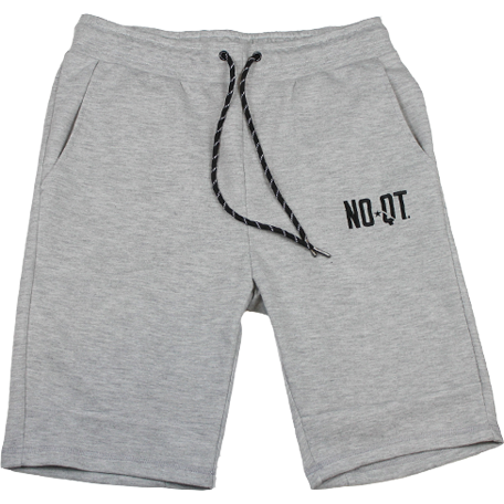 ICONIC FLEECE SHORTS- HEATHER GREY - noquitsociety