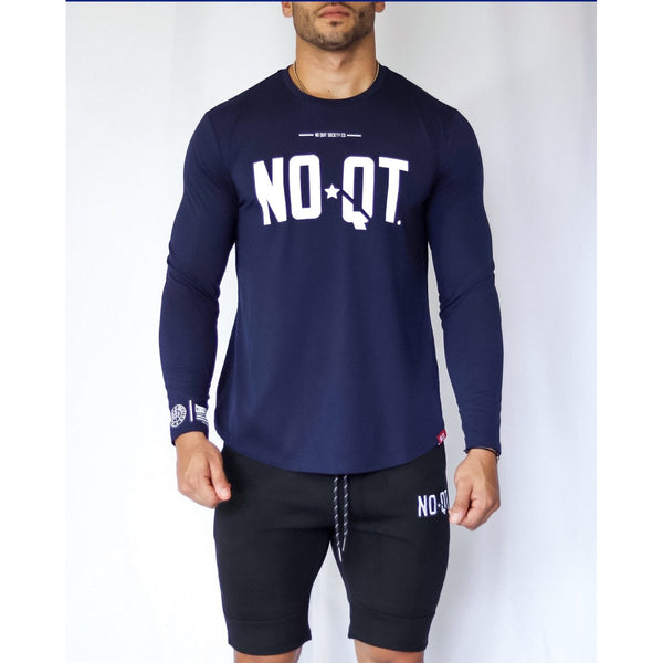 PREMIER LONG SLEEVE-DEEP NAVY BLUE - noquitsociety
