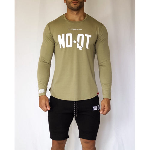 PREMIER LONGSLEEVE -VINTAGE OLIVE GREEN - noquitsociety