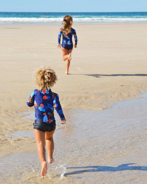 leopard swimsuit, navy swimsuit, kids swimwear, kids swimsuit, stylish swimwear