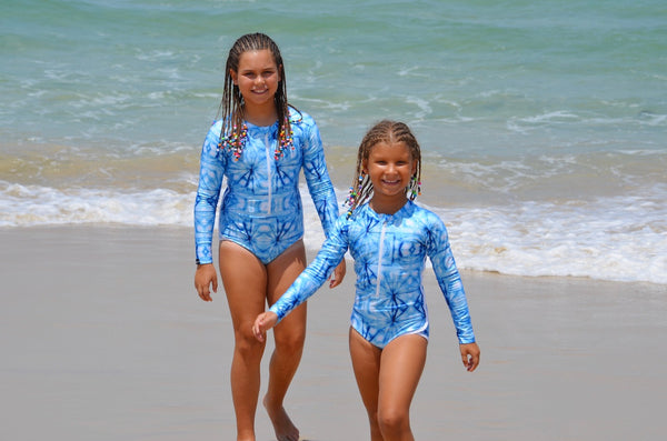 Ocean Dreamer Slim Fit Long Sleeve Swimsuit