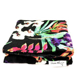 tropical print baby swaddle, baby shower gift ideas, swaddle for babies, black swaddle
