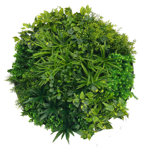 100cm 'Tropical Green' Vertical Garden Disc - Artificial green walls and fake plants