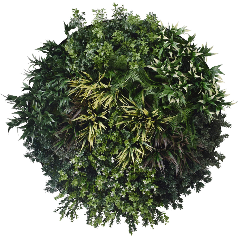 100cm 'UV Native' Vertical Garden Disc - Artificial green walls and fake plants