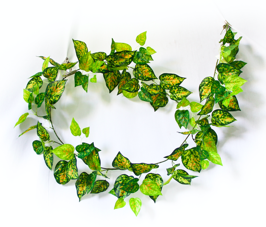 2 Pack - Artificial Red Pothos Garland - 190cm